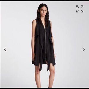 All Saints Jeyda Zipper Mini Dress Black